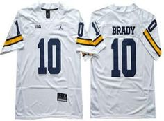 Michigan Wolverines Jersey - 10 Tom Brady College Football Jersey 66908e974