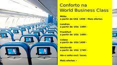 World Business Class a partir de US$1499 :: Jacytan Melo Passagens