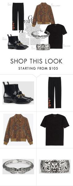"""menswear"" by mathildestaber on Polyvore featuring Whiteley, Gucci, Yves Saint Laurent, men's fashion and menswear"