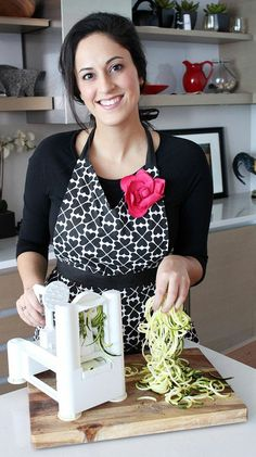 """Get Inspiralized Spiral veggie cutter to cut veggies into """"noodles"""" - recipes in the link"""
