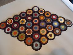Already PreCut   Penny Rug Kityou make by primitivestitchesmo, $29.95