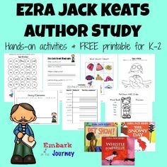 This Ezra Jack Keats author study is full of hands-on activities and a FREE 30+ page FREE printable for K-2.