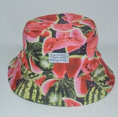 0ef73ebea22 Unisex Watermelon Bucket hat men women Outdoor Woman