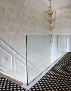 Beautiful patterned flooring and ultra-modern staircase