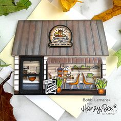 Metal Awnings For Windows, Honey Bee Stamps, Bee Cards, Cute House, House Of Cards, Ship Lap Walls, Cards For Friends, Card Tutorials, Pretty Cards
