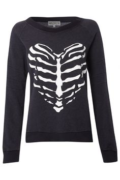 Wildfox Skeleton Heart sweater