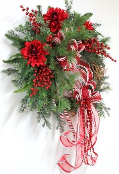 Sweet Candy Canes Country Christmas by FloralsFromHome
