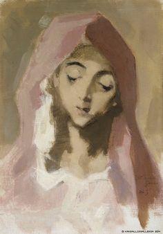Helene Schjerfbeck, Madonna de la Charité, El Grecon mukaan, 1941, öljy kankaalle