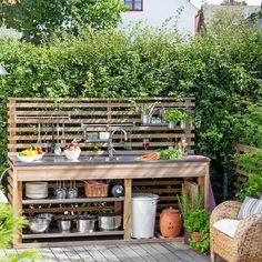 Outdoor kitchen ideas Outdoor Furniture Sets, Outdoor Decor, Outdoor Kitchen Design, Floor Plans, Exterior, Flooring, Home Decor, Homemade Home Decor, Outdoors