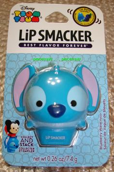 1 Disney TSUM TSUM Stackable Lip Smacker Stitch Blueberry Wave Pot Lip Balm EOS #LipSmacker