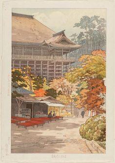Yokouchi Kiyoharu, Maple Leaves at Kiyomizu Temple in Kyoto, 1936 (source).