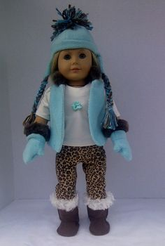 American Girl Doll Clothes  Winter Outfit by PixieandLackie, $36.00