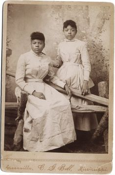 Full length double portrait, two young Black American women in identical dresses. Vintage Photographs, Vintage Photos, American Photo, Vintage Black Glamour, Black Families, Black Image, African Diaspora, My Black Is Beautiful, Beautiful People