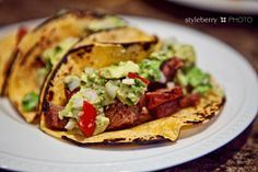 Carne Asada and Fresh Avo Pico Tacos - Healthy weeknight dinner or pair with margaritas for a weekend dinner party