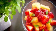 Salade de fraises et de melon