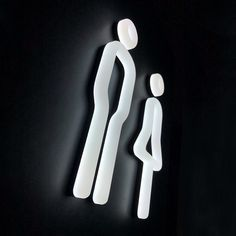 If you are looking for some different and remarkable toilet/restroom signs, the Netto LED acrylic large pictograms manufactured by Signbox are the answer. Wayfinding Signage, Signage Design, Environmental Graphics, Environmental Design, Design Stand, Design Design, Bathroom Signage, Street Light Design, Wc Sign