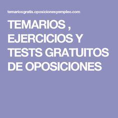 TEMARIOS , EJERCICIOS Y TESTS GRATUITOS DE OPOSICIONES Corpus, Tips, Law, Ideas, Prison Officer, Counseling