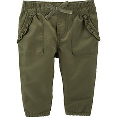 Oshkosh B'gosh Size Twill Pant In Olive - Style your little one in the chic Twill Pant from OshKosh B'gosh. Sporting an elastic waistband, cinched cuffs and pockets, this comfy cotton and polyester pant coordinates perfectly with any top. Baby Girl Jeans, Baby Pants, Kids Pants, Girls Jeans, Baby Boy Outfits, Kids Outfits, Joggers Outfit, Jogger Shorts, Kids Clothing Brands List