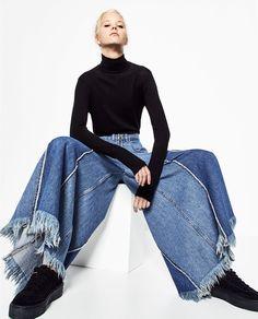Image 6 of DENIM SKIRT CULOTTES from Zara