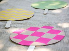 how to make a paper fan on a stick