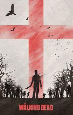 Temporadas de u201cThe Walking Deadu201d inspira série de pôsteres