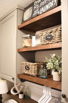 Farmhouse style Laundry room makeover (for under $100)-10
