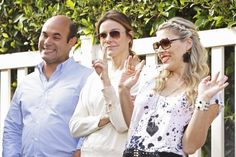 Still of Busy Philipps, Ian Gomez and Christa Miller in Cougar Town
