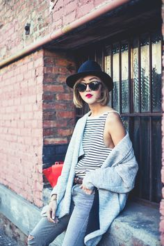 chriselle factor, chriselle lim, chriselle, ootd, striped shirt, parisian look, karen chen photography