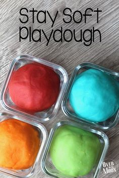Stay Soft playdough recipe! Made with kool-aid so you can make tons of vibrant colors