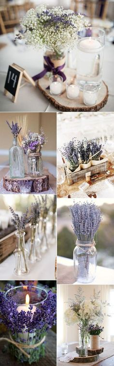 46 Lavender Wedding Ideas to Inspire Your Big Day is part of Flower centerpieces wedding To take an outlook for 2018 spring wedding, what do you want for your big day Lavender always reminds me of - Wedding Table, Diy Wedding, Rustic Wedding, Dream Wedding, Wedding Day, Wedding Favors, Winter Wedding Colors, Purple Wedding, Wedding Flowers