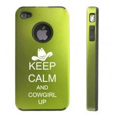 Apple iPhone 4 4S Green D5550 Aluminum & Silicone Case Cover Keep Calm and Cowgirl Up by MIP INC, http://www.amazon.com/dp/B008Z5MG0O/ref=cm_sw_r_pi_dp_N7yTqb10BR5SZ