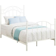 Mainstays Twin Girls Metal Bed White