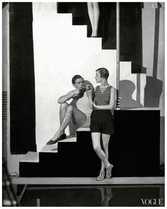 George Hoyningen-Huene, Bettina Jones, Beachwear by Schiaparelli, 1928