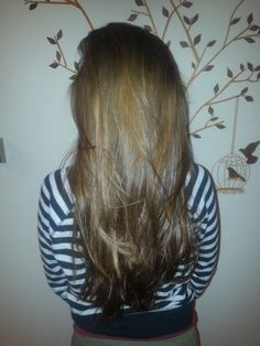 long, healthy hair.