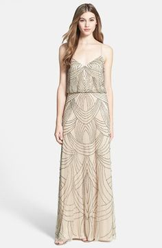 how PERFECT is this Adrianna Papell Beaded Chiffon Blouson Dress for an Art Deco Wedding!!?? #artdeco #bridesmaid #nordstrom