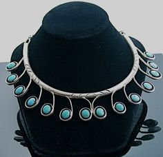 Turquoise Soul . . . J. Toadlena (Navajo). Sterling silver and turquoise
