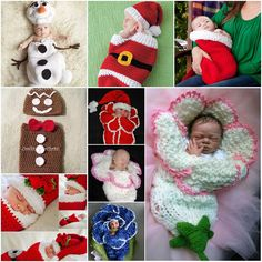 Babies are so so cute. I wanted to share with you some ideas how to make cocoons with Cute Christmas Crochet Cocoon Patterns to make them more adorable.