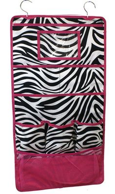 Zebra Print Hanging Organizer. Would love this for myself