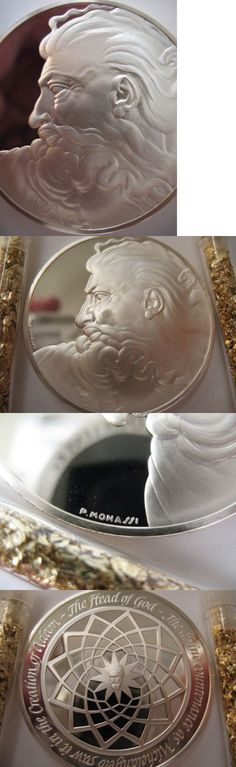 Bullion: 1.3 -Oz.925 Silver Coin Head Of God Franklin Mint Genius Of Michelangelo +Gold -> BUY IT NOW ONLY: $79.95 on eBay!