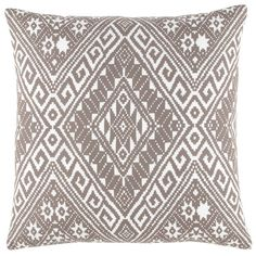 Ankit Decorative Pillow - Hand block printed and hand embroidered... these pillows take forever to make, but are well worth the wait! Soft colors play off of each other; hand embroidered threads outline the prints; and then the edges are hand finished with yet another chain stitch. A crazy number of details, I know, but I am sure you will appreciate them!