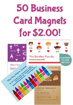 50 Business Card Magnets for $2.00! {+ s/h} possible save the date magnets?