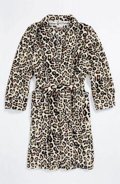 Leopard robe for Christmas morning.