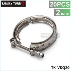 "20PCS STAINLESS V-BAND BOLT CLAMP FOR TURBO FLANGE DOWNPIPE WASTEGATE EXHAUST (Available Sizes:2"",2.25"",2.5"",2.75"",3"",3.5"",3.75"",4"")"