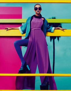 Color Block High Fashion