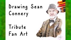 Drawing Sean Connery - Tribute fan art - with prismacolor Sean Connery, Prismacolor, Fan Art, Drawings, Videos, Artwork, Youtube, Work Of Art, Auguste Rodin Artwork