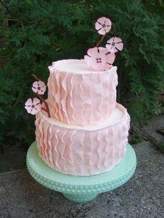 Pink Pleats wedding cake