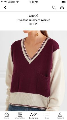 Chloe cashmere sweater from Net-A-Porter