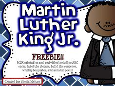 FREE!! Martin Luther King Jr. activities ready for you to print and use in your classroom! #mlk
