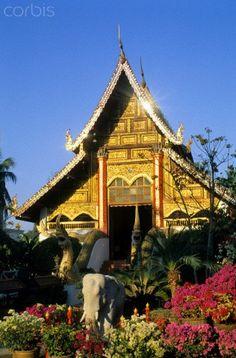 Thailand, Chiang Rai, Wat Phra Kaew