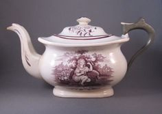 Purple transfer make-do Teapot